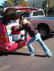 Packing everything I own into my little Pontiac Vibe!