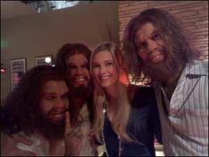 Jennifer Keller as Sarah in the Cavemen Crib Party
