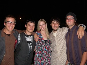 Jennifer Keller with Phil, Sean, Sean and Wes