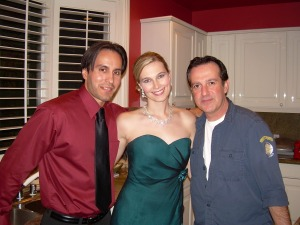 Jennifer with Michael Placencia (Cain) and Sargon Yoseph, the writer of Empires