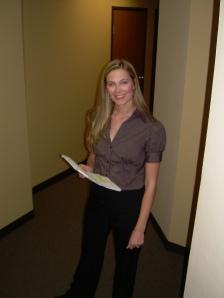 "Jennifer Keller preparing for a ""pre-read"" with Christinna Chauncey"