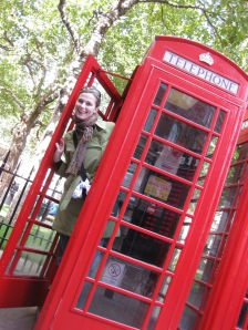 Playing in the Red Phone Booths in London