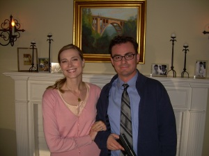 Jennifer Keller with co-star Anthony Cran
